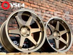 NEW! Разноширы! # RAYS VOLK Racing TE37 R18 9,5-10,5J Bronze [VSE-4]