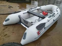 Надувная лодка НДВД Rocky 375 (дно высокого давления) GRAY