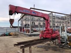 Видео работы! Крановая установка Sakai SK374A, стрела 10 метров, N 456