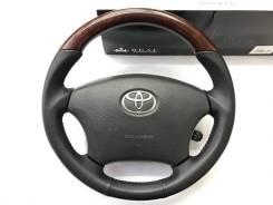 Анатомический руль REAL с косточкой под дерево для Toyota