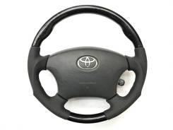 Анатомический руль Gun Grip с косточкой под черное дерево для Toyota