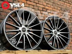 NEW! # Vossen VFS-2 R17 7.5J 5x112 Black Polish [VSE-4]