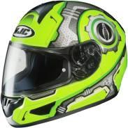 Шлем HJC CL-16 Machine зеленый/желтый/серый L(59-60)