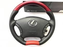 """Анатомический руль REAL с косточкой """"красный жемчуг"""" для Lexus"""