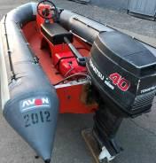 Лодка AVON RIB SR-4 420 с мотором 40 сил, 4.20 , б/п