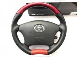 """Анатомический руль REAL с косточкой """"красный жемчуг"""" для Toyota"""