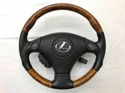 Анатомический руль с косточкой под дерево Lexus