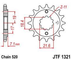 Звезда Передняя (Ведущая) JT Sprockets JTF1321.13 36113