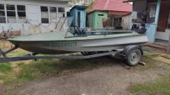 Продам лодку ОБЬ с мотором Tahatsu 30