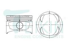 Поршень двигателя (4шт/упак) Teikin 46266-050