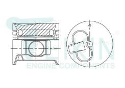 Поршень двигателя Teikin (4шт/упак) 46629A-050