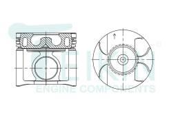 Поршень двигателя (4шт/упак) Teikin 46348AG-STD