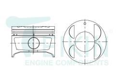 Поршень двигателя Teikin (4шт/упак) 46347-050