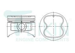 Поршень двигателя Teikin (4шт/упак) 46271-STD