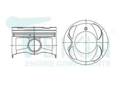Поршни двигателя (4шт/упак) Teikin 46373-STD