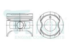 Поршень двигателя Teikin (4шт/упак) 46289-050