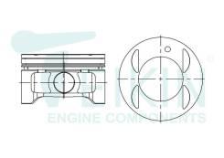Поршень двигателя Teikin (6шт/упак) 46357-050