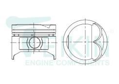 Поршень двигателя Teikin (4шт/упак) 46258-STD