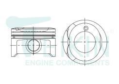 Поршень двигателя Teikin (4шт/упак) 46334-STD