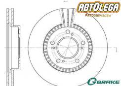 Диск тормозной п. G-Brake Honda Odyssey RA1-5, CR-V, HR-V GH#, STWG RF1/2