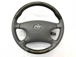 """Анатомический руль """"Clazzio"""" с косточкой под темное дерево для Toyota"""