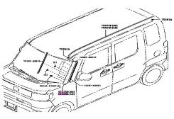 Накладка левая передняя Daihatsu Wake 62226-B2160