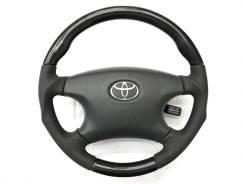 """Анатомический руль """"Clazzio"""" с косточкой под чёрное дерево для Toyota"""