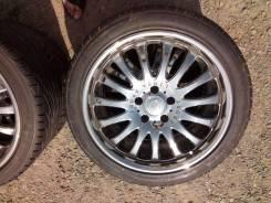 Комплект колёс дисков Linea Sports разноширокий R18 Хром