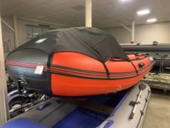 ПВХ лодка Gladiator E380 красно чёрная