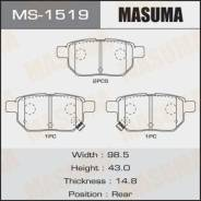Колодки дисковые Masuma Auris/ NZE15#H, ZRE15#H rear MS-1519