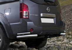 Защита заднего бампера Nissan Pathfinder 51 2009-14г d76+d42 уголки