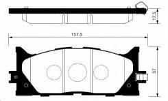 Колодки тормозные - дисковые JUST Drive JBP-0189 (PF-2270)