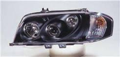 ФАРА Левая+Правая (Комплект) Тюнинг Линзованная Внутри Черная Mercedes - W202 1993-2000 [SK3300-11394-EJM]