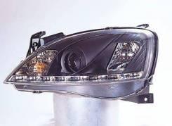 ФАРА Левая+Правая (Комплект) Тюнинг Линзованная (Devil EYES) Внутри Черная Opel Corsa - C 2000-2006 [SK3400-COS01-CJM]