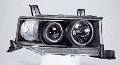 ФАРА Левая+Правая (Комплект) Тюнинг Линзованная С 2 Светящимися Ободками Внутри Черная Toyota Scion XB 2003-2006 [SK3300-TYBB-JM]