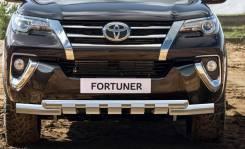 Защита переднего бампера Toyota Fortuner 156 с 2015г d76+d57