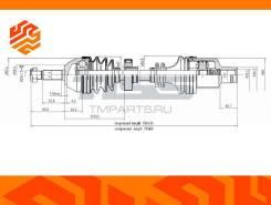 Вал приводной JD JCA0084