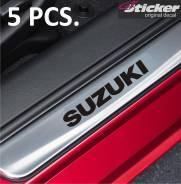 Наклейки на пороги дверей Suzuki 5шт (быстрая доставка по РФ)