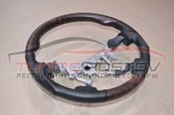 Руль перфорация + косточка (темное дерево) Land Cruiser 200