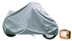 Чехол-тент на мотоцикл защитный, размер М (225х90х110см), цвет серый, универсаль Airline ACMC05
