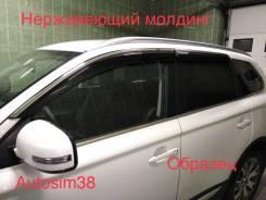 """Ветровики дверей Audi Q7 2016- нерж. молдинг в Иркутске """"Autosim38"""""""