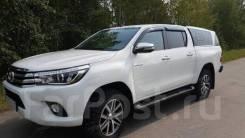Дефлектора боковых окон темные Toyota Hilux 16- EGR Australia k