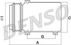 Компрессор кондиционера Denso ( DCP02030 )