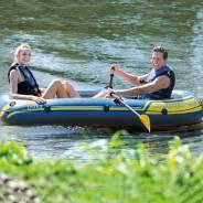 Надувная лодка пвх двухместная новая Intex Double boat Оригинал