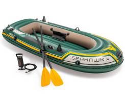 Надувная лодка Intex Seahawk 2 двухместная 236х114x41см