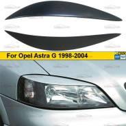 Реснички на фары для Opel Astra G 1998-2004