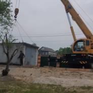 Перевозка ж/б гаражей. Аренда кранов до70 тонн.