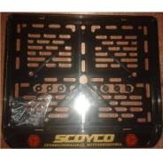 Рамка для номера Scoyco. Черный