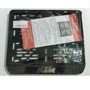 Рамка для номера KTM. Черный