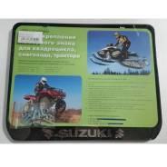 Рамка для номера Suzuki для снегохода и квадроцикла. Черный